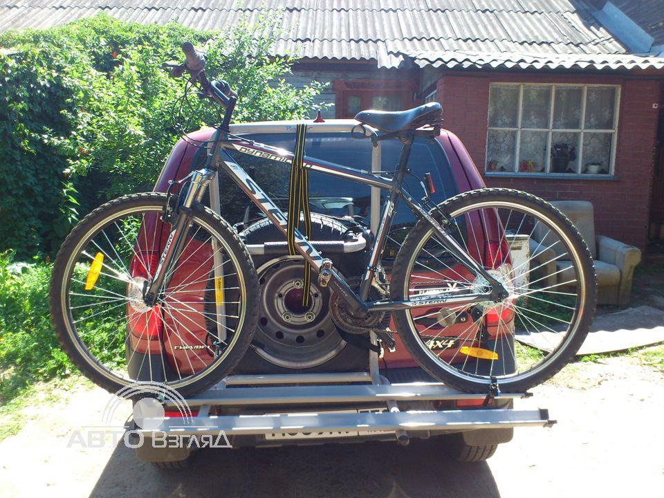Крепление велосипеда на запаску своими руками